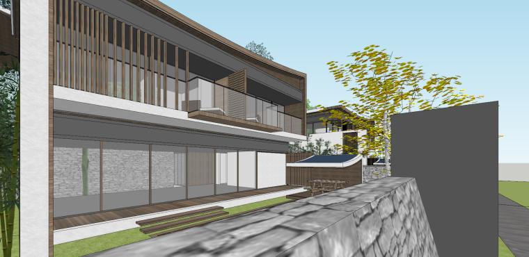 [浙江]新中式-山地别墅公寓+整体模型2020_20