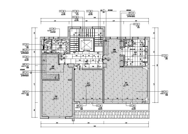 [安徽]现代风合院别墅样板房施工图+物料书_2