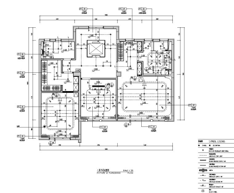 [安徽]现代风合院别墅样板房施工图+物料书_5