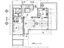 [安徽]现代风合院别墅样板房施工图+物料书