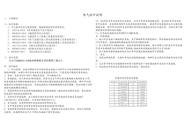 [江苏]南通商业综合体建筑亮化施工图-2020_4