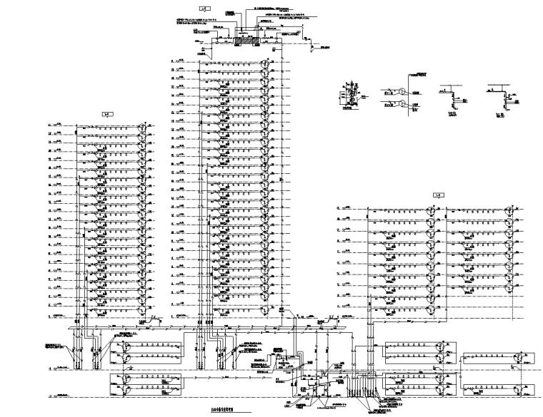 [重庆]大型商业办公配套给排水施工图2020_8