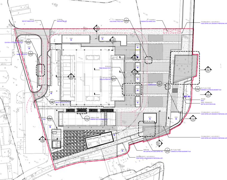 [广东]现代风格展示区中心景观示范段施工图_2