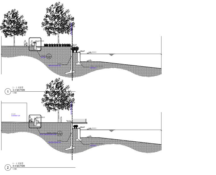 [广东]现代风格展示区中心景观示范段施工图_11