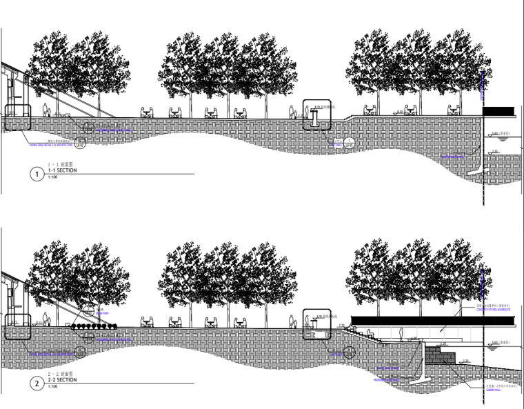 [广东]现代风格展示区中心景观示范段施工图_10