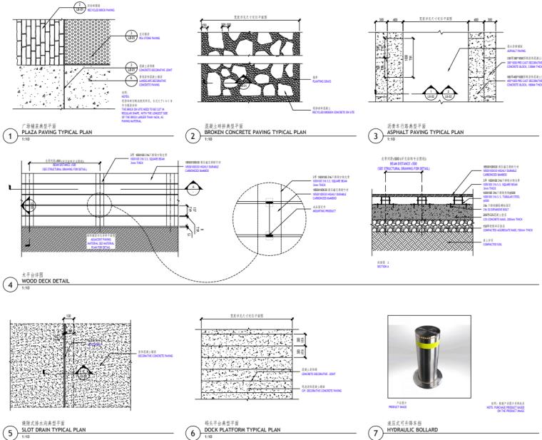[广东]现代风格展示区中心景观示范段施工图_5