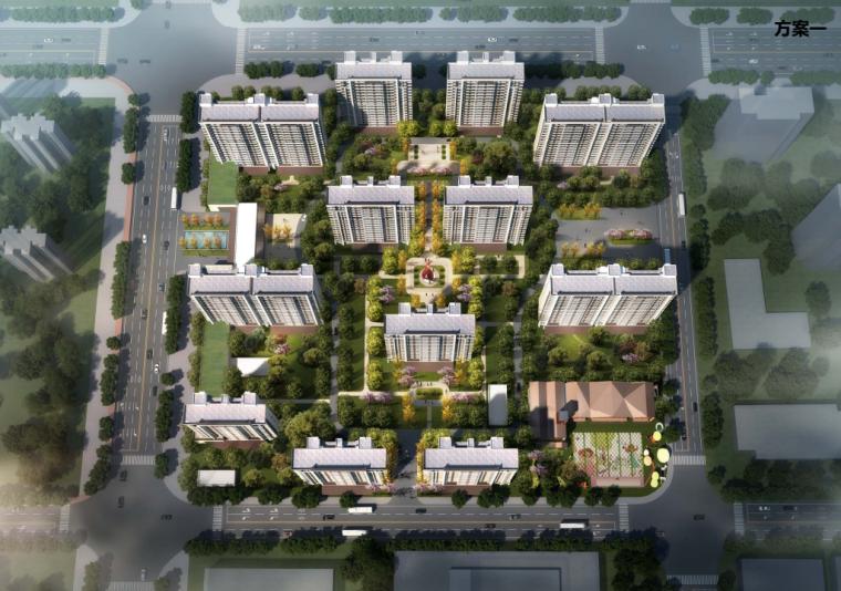 [天津]现代社区共建高层住宅规划投标方案_1
