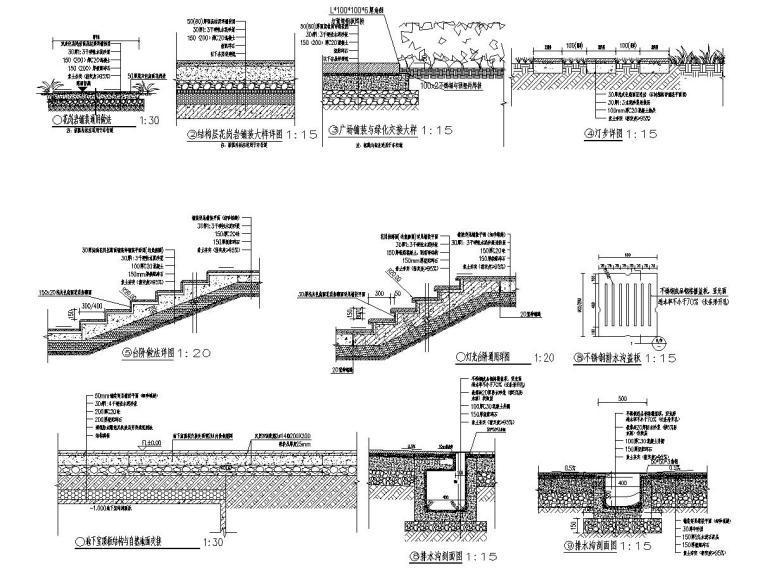 商业中心室外景观设计施工图2020年_4