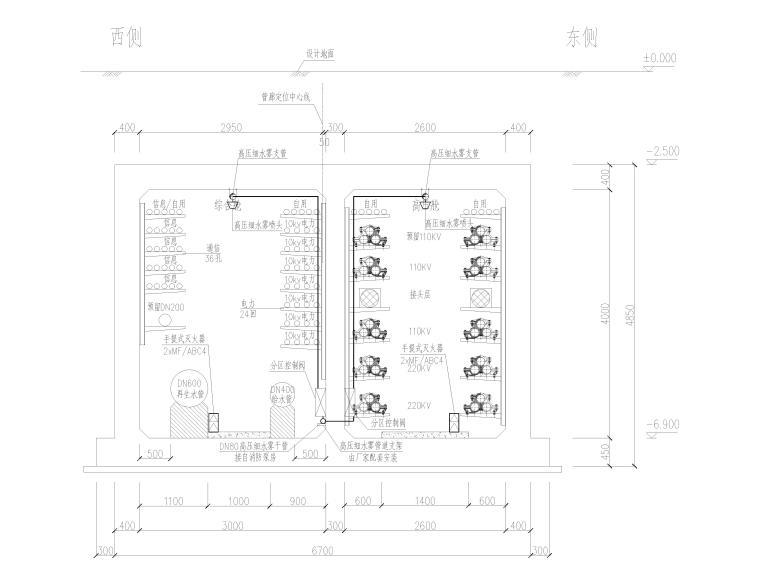 城市主干道市政化改造工程管廊消防图_1