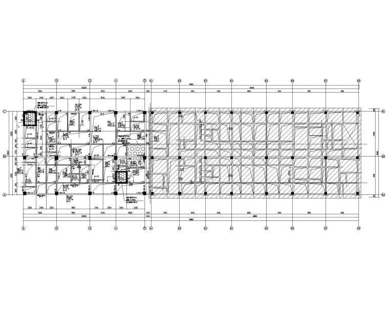 四层框架结构人民医院综合内科楼扩建结施_2