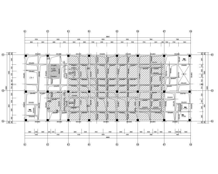 四层框架结构人民医院综合内科楼扩建结施_5