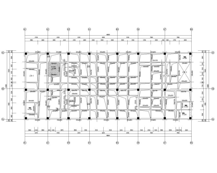 四层框架结构人民医院综合内科楼扩建结施_6