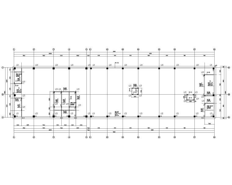 四层框架结构人民医院综合内科楼扩建结施_3