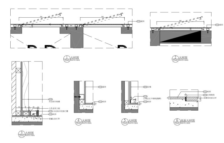 [浙江]样板间公区大堂部分装修施工图设计_3