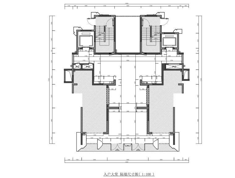 [浙江]样板间公区大堂部分装修施工图设计_6