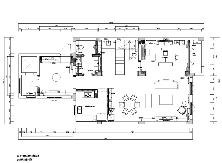 [浙江]混搭风格300M²别墅装修施工图+水电图_2