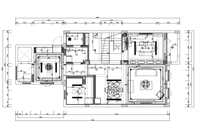 [浙江]混搭风格300M²别墅装修施工图+水电图_3