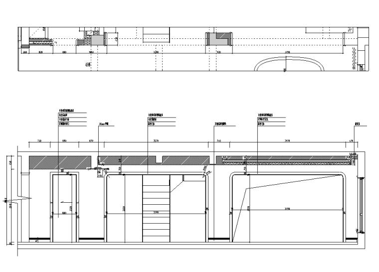 [浙江]混搭风格300M²别墅装修施工图+水电图_8