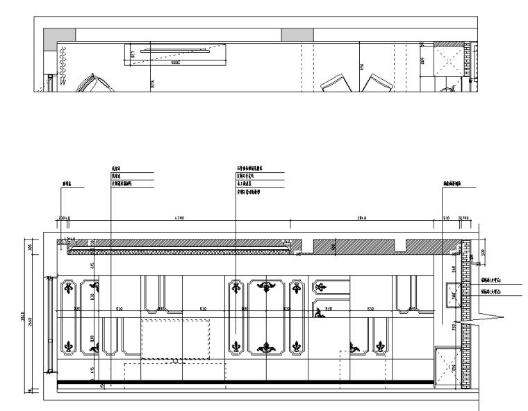 [浙江]混搭风格300M²别墅装修施工图+水电图_7