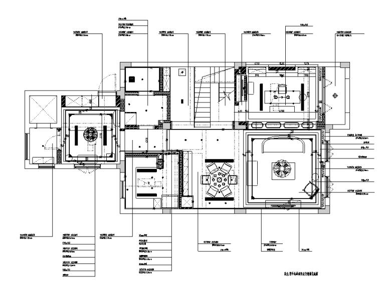 [浙江]混搭风格300M²别墅装修施工图+水电图_5