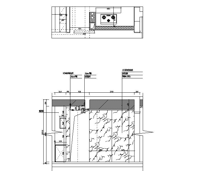 [浙江]混搭风格300M²别墅装修施工图+水电图_6