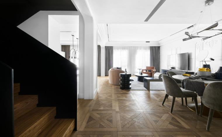 [浙江]混搭风格300M²别墅装修3D模型设计_3