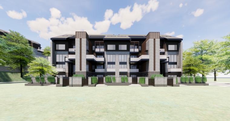 [西安]新中式合院别墅建筑SU模型_1