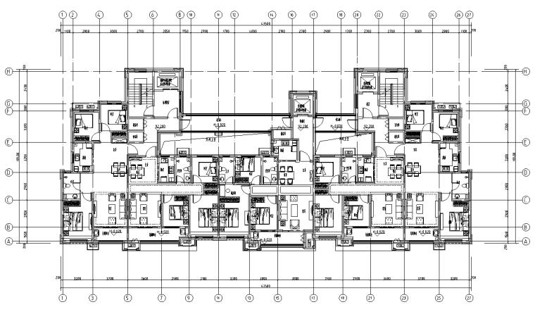 [河北]16套剪力墙结构住宅户型图2019_2
