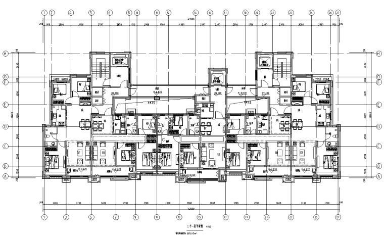 [河北]16套剪力墙结构住宅户型图2019_3