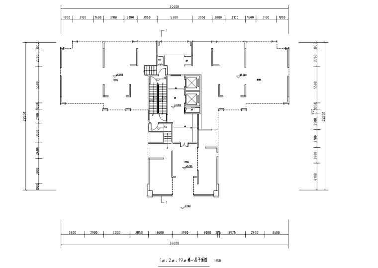 [广西]T3-116+116+100住宅户型图设计2019_1