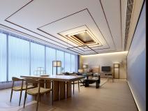新中式江南风民宿室内CAD施工图+SU模型
