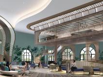 [北京]现代度假酒店公区装修设计方案94页