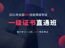 全国BIM技能等级考试一级证书直通班