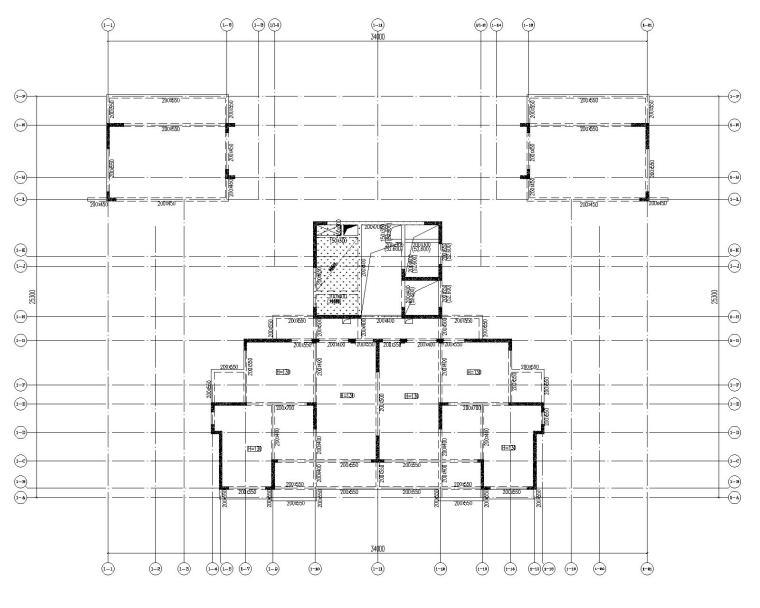 高层剪力墙结构综合体结构施工图2020+500P_8