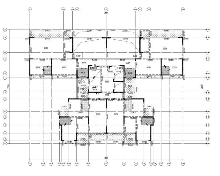 高层剪力墙结构综合体结构施工图2020+500P_7