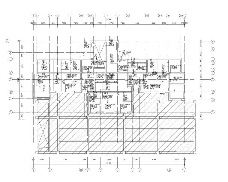 钢混框架剪力墙住宅结构施工图450p_2