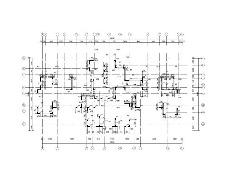 钢混框架剪力墙住宅结构施工图450p_6