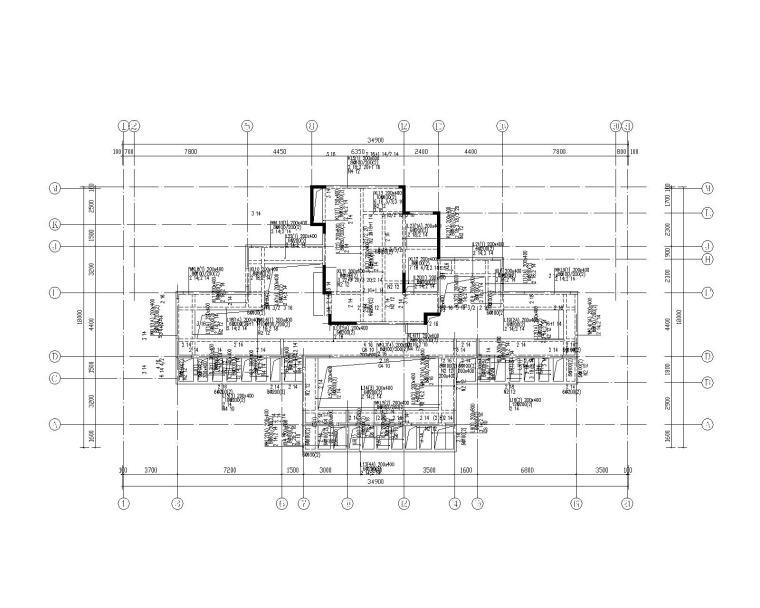 钢混框架剪力墙住宅结构施工图450p_10