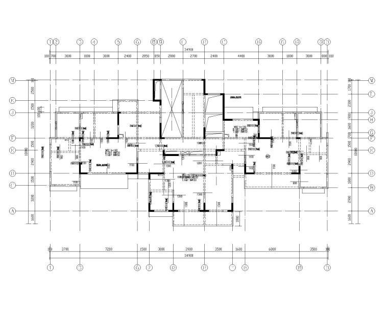 钢混框架剪力墙住宅结构施工图450p_7