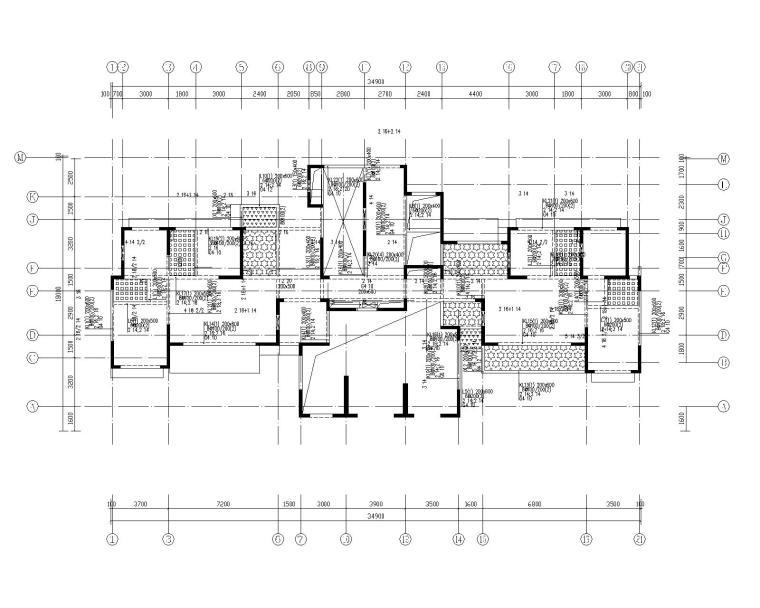 钢混框架剪力墙住宅结构施工图450p_9