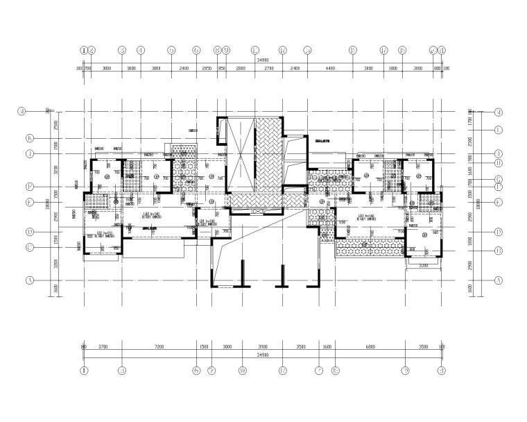 钢混框架剪力墙住宅结构施工图450p_5