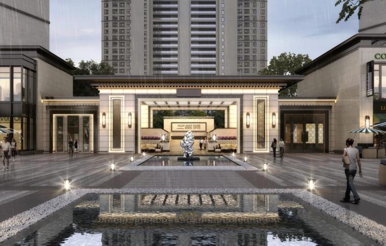 江苏新中式园林社区高层+洋房建筑方案2020_12