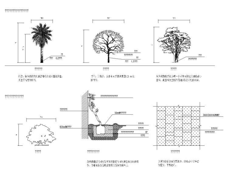 [广东]城市某景观大道绿化工程施工图设计_7