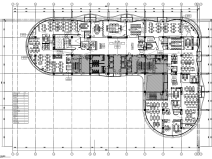 [上海]2500m²办公空间装饰图纸CAD+机电