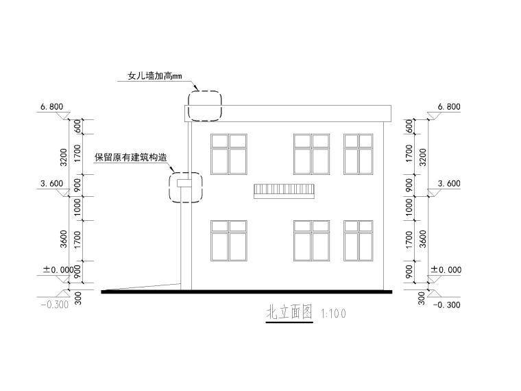 [重庆]城管办公楼施工图CAD_5