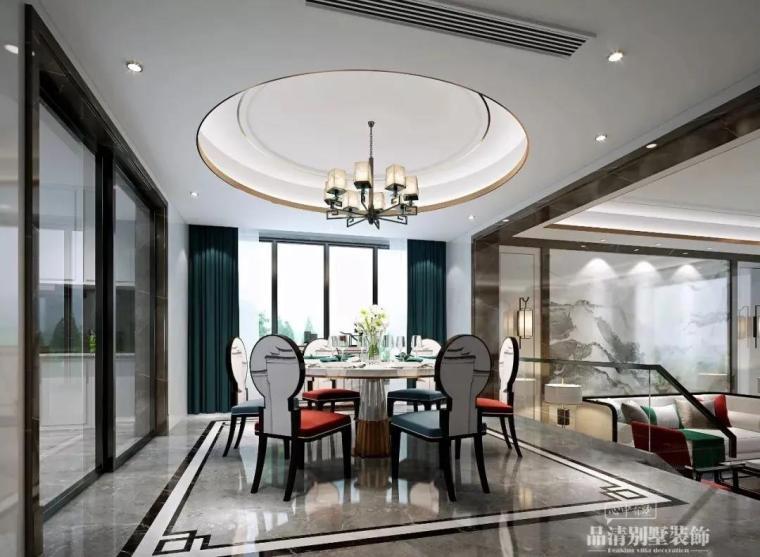 别墅装修|347㎡新中式风格案例赏析_3