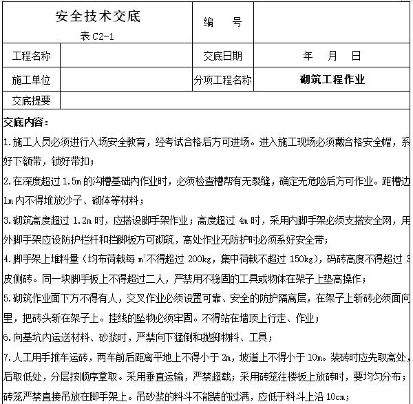 工程项目安全技术交底大全(342页)_8