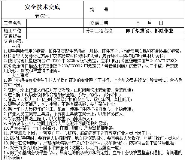 工程项目安全技术交底大全(342页)_6