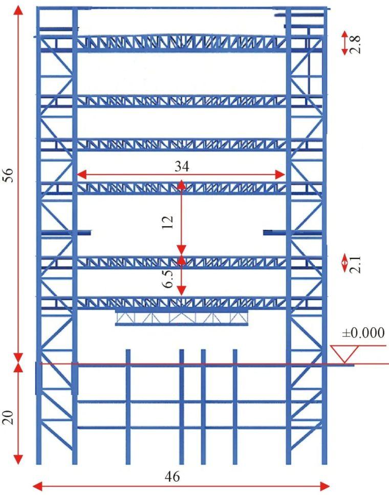 多层大跨度钢桁架安装技术的研究_1