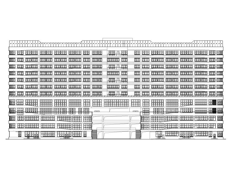123100㎡框剪结构医院新建工程全套图纸_1